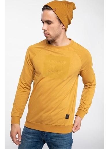 DeFacto Bisiklet Yaka Sweatshirt Sarı